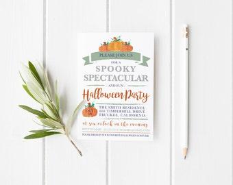 Halloween Party Invitation Printable, Fall Party Invitation Template,Fall Halloween Party Invitations, Halloween Party Invitation Templates