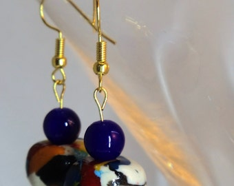 Multicolored drop earrings