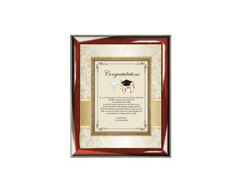 Graduation Medical School Gift Graduate Picture Frame Personalized New Doctor Physician Plaque