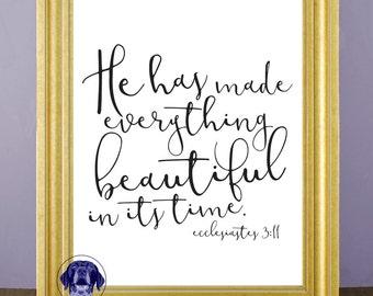 Ecclesiastes 3:11 Scripture Print