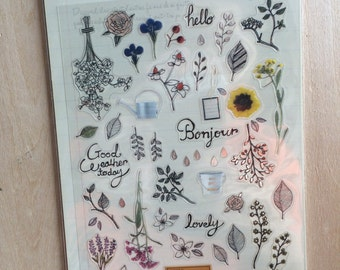 Korea Transparent deco stickers - suatelier sticker: the secret garden