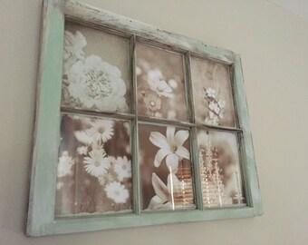 Restored window picture frames