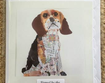 Handmade Beagle Card - signed by the artist