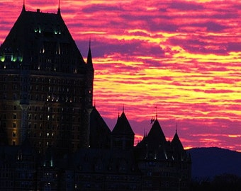 Sunset at the Château Frontenac.