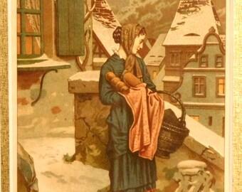 "Victorian chromolithograph--""Unter dem Christbaum"""