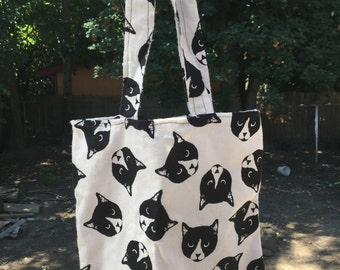Handmade Kitty Tote
