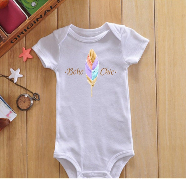 Boho chic baby onesie boho baby clothes baby girl clothes