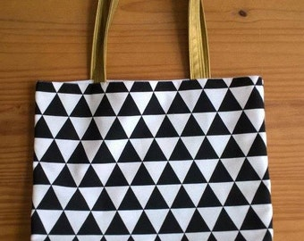 Tote bag touch of gold