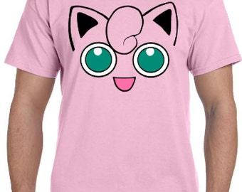 Jigglypuff Face Pokemon Go Cosplay Parody T-Shirt * Sizes 2T - 6XL* Ladies Sizes  * Wigglytuff * Da Puff * Super Smash Brothers * Bros