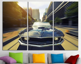 Mustang Art Muscle Car Ford Poster Top Gear Ford Mustang Ford Mustang Print Mustang Wall Art Ford Mustang Canvas Ford Mustang Poster
