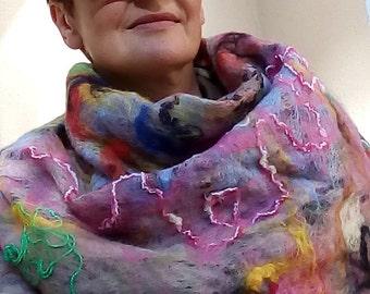 felted scarf (wrap, shawl)