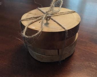 Aspen Branch Wood Coasters