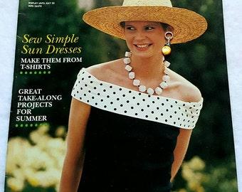 June 1989 Needle and Craft Patterns Magazine ReTrO