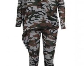 Camo Asymmetric Lounge Suit