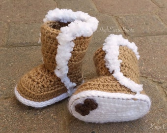 Baby Uggs Crochet Baby Bootie Pattern #1 Winter booties