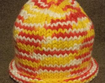 Hand Knitted Infant Hat, Hand Knit Infant Hat, Infant Hat
