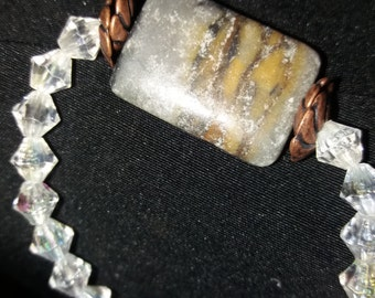 Stone with Crystal beads