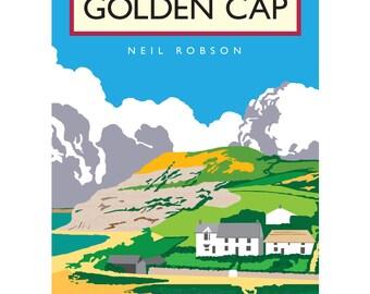 Golden Cap Illustration - 40 x 30cm Art Print