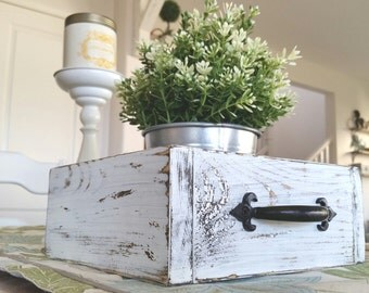 Farmhouse Style Square Tray with Handles