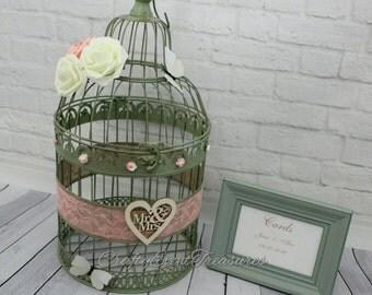 Rustic Wedding Birdcage Card Holder /Country Wedding Birdcage