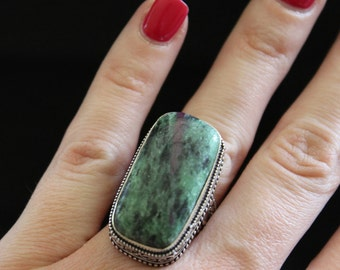 Ruby Zoisite Ring-Size 7!