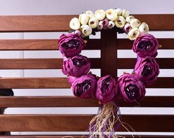 Purple Arch Door Wreath