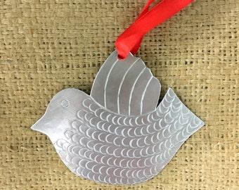 Tin Dove Ornament