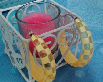 Earrings yellow rings