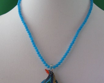 Lampwork Glass Penguin Necklace