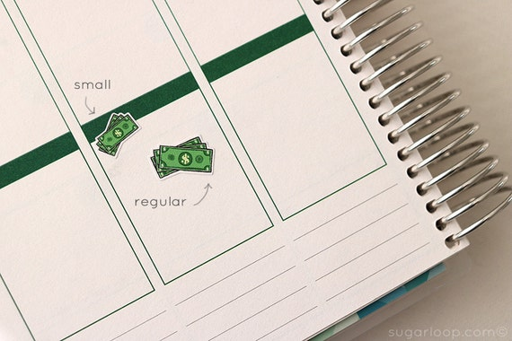 25, payday, payday planner stickers, planner stickers, money, dollar bills, income, work, PAY2