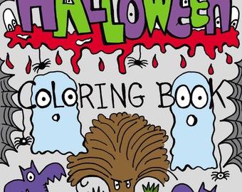 PDF Printable Digital Halloween Coloring Book