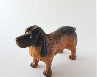 Vintage Carved Wooden Folk Art Dog