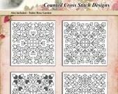 Counted Cross Stitch Pattern Blackwork Biscornus