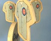 Baby Mobile - Baseball Mobile - Wooden Baby Mobile for Baseball Themed Nursery - Chicago Cubs