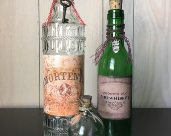 Harry Potter Potions Starter Kit (EMPTY) - Amortentia, Pepper-Up Potion, and Firewhiskey