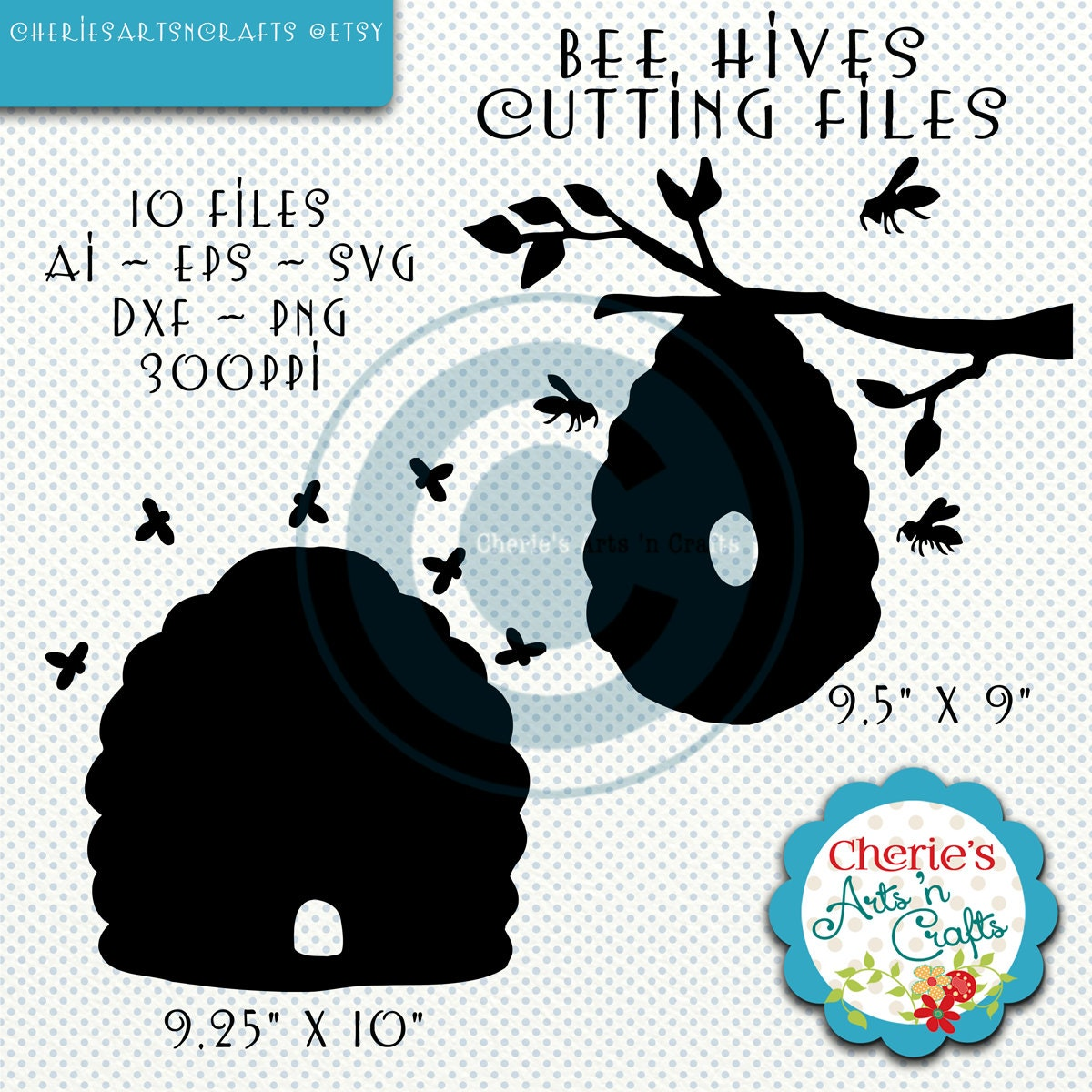 bee hives svg files die cut machine cutting files eps