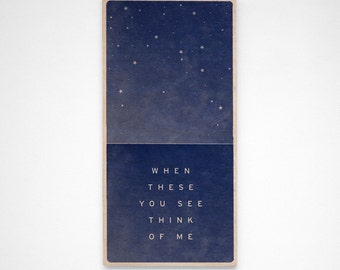 When These You See Think of Me- Star Art- Star Print- Star Decor- Block or Box- Star Wall Art- Long Distance Relationship- Going Away Gift
