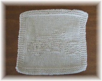 Motorcycle Knitted Dishcloth Pattern