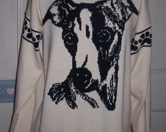 Custom Knit Whippet Dog Sweater ****Create your own sweater see below*****