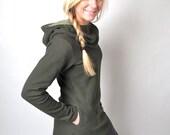 Hooded Winter Sidewalk Dress