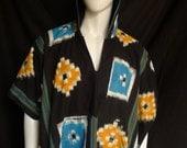 Ikat Spirit World Poncho© Menswear, Festival Clothing, OOAK
