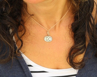 Cape Cod (CC) Pendant, Airport Code,Necklace, Great for Summer,