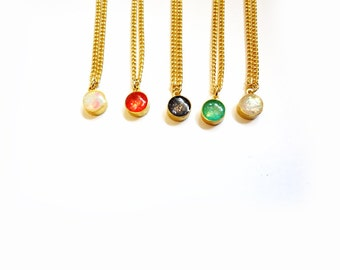 tiny resin pendant necklaces