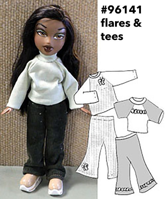 Knitting Patterns For Bratz Doll Clothes : Bratz clothes pattern sewing pattern 10 Bratz Moxie