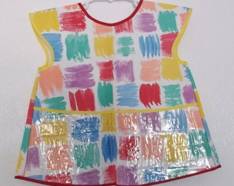 Toddler Plastic Apron with Pocket  Size 3