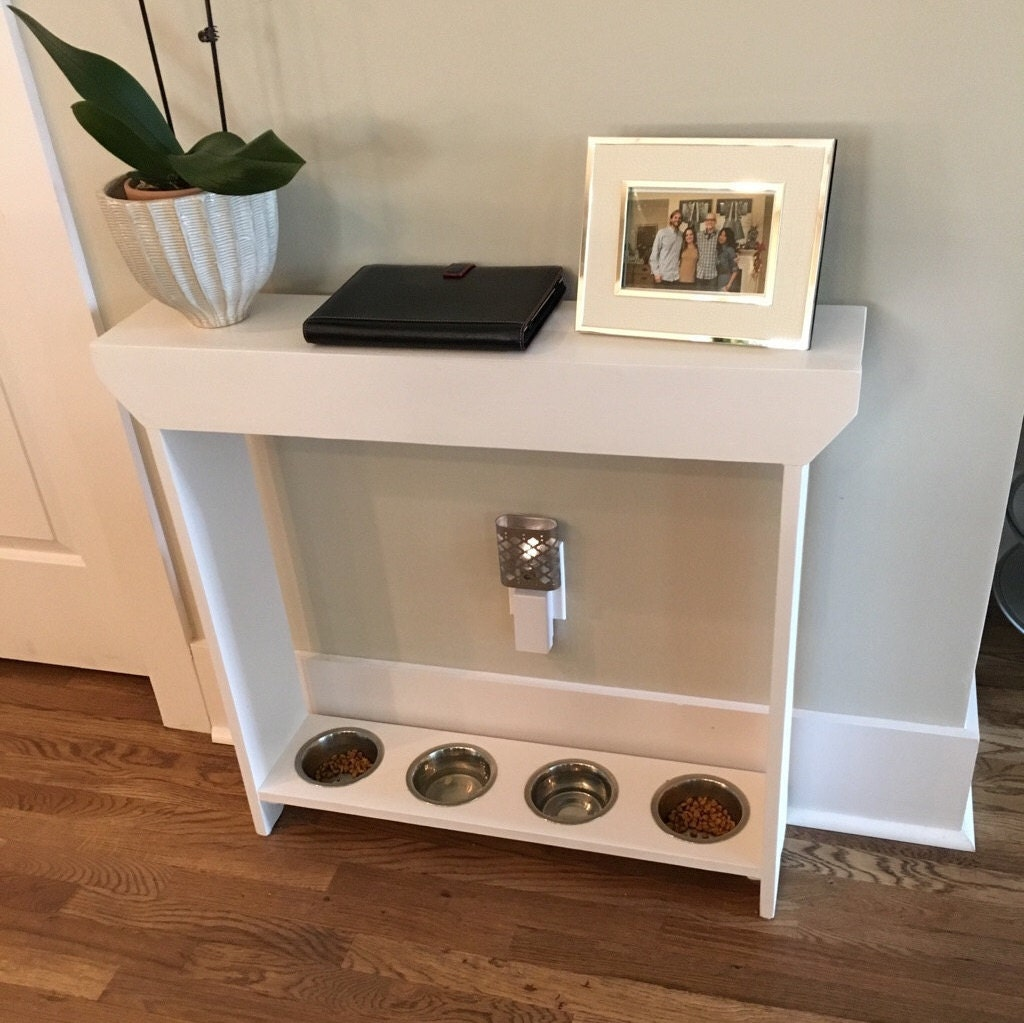 Feeding Stand Console Table Combination Pet Dog Furniture