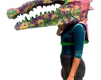 Colorful Alligator Costume Big Head Mascot