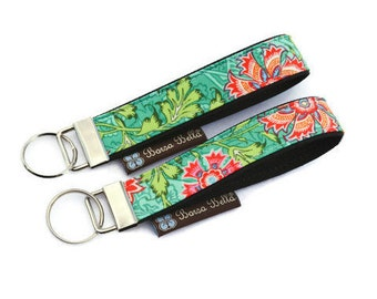 Key Fob Wristlet - Key Chain Wristlet -  Keychain - Key Fob - READY TO SHIP -  - Amy Butler Lark Fabric
