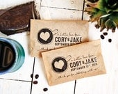 Wedding Coffee Favors - Cup of Love Design - Latte Love or Perfect Blend - 20 Customized Grease Resistant Bags