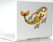 Mermaid and Turtle Family Vinyl Decal Sticker